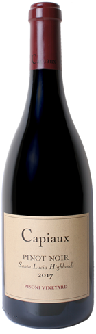 Capiaux Cellars Pisoni Vineyard Pinot Noir Bottle shot